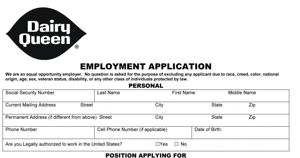 mcdonalds job application form images