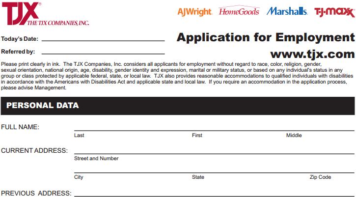 T  J  Maxx Job Application Form Online: Apply for a Job at T  J