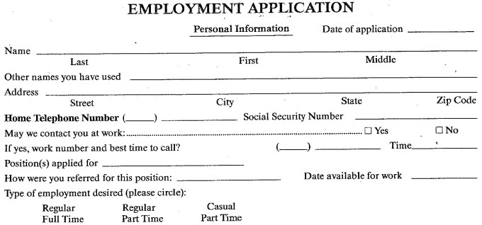 Dahl'S Foods Job Application - Printable Job Employment Forms