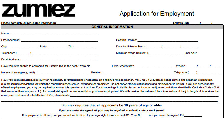 Zumiez Application Form Print Out Barearsbackyard